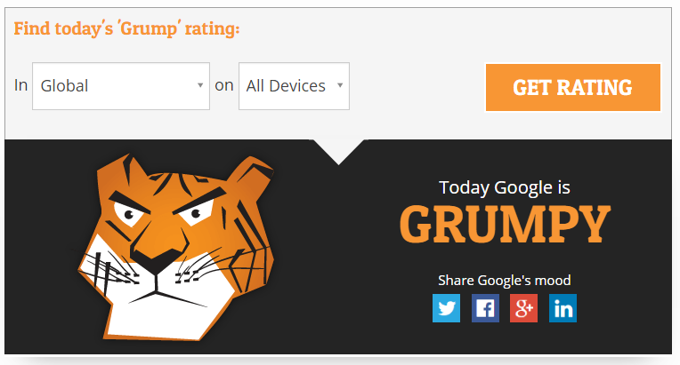 Google Grump from AccuRank offers insight into Google's mood, which can tell a lot about a possible update