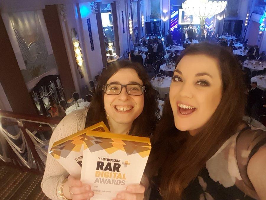 Teresa Garanhel and Katie Sadler with the RAR Awards