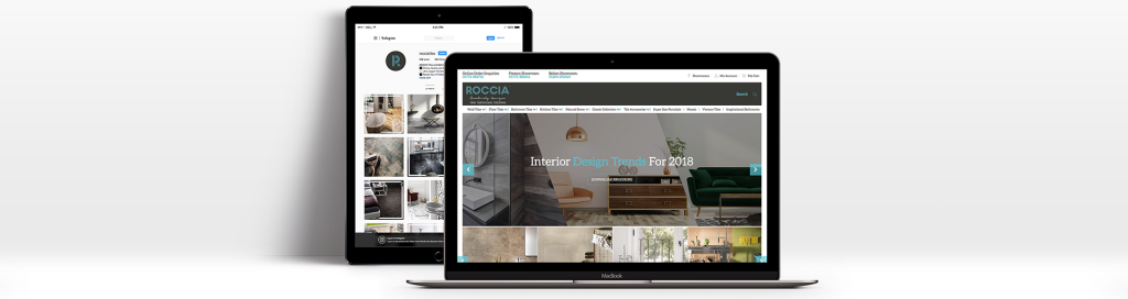 Roccia website on laptop and tablet