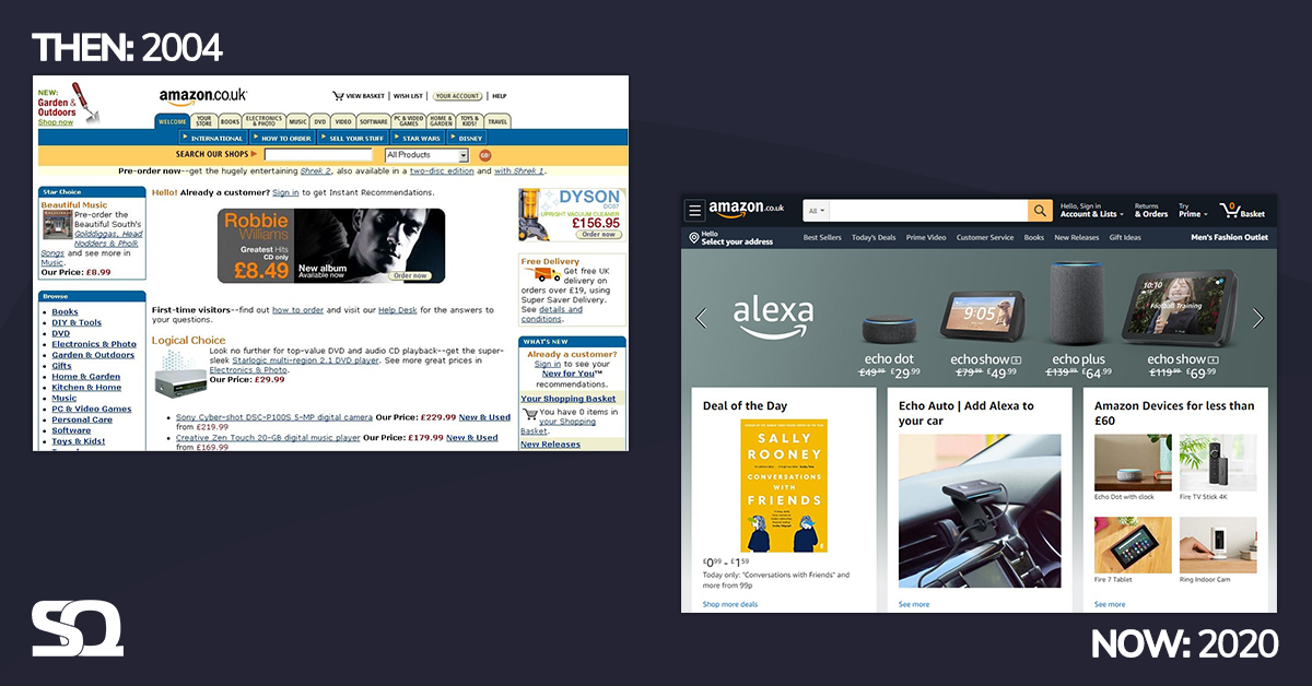 amazon then and now