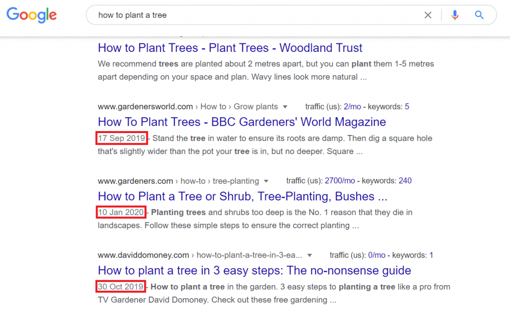 how to plant a tree google search